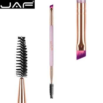 JAF Dual Ended Eye Makeup Brush for Eyebrow, Angled Eyebrow Brush plus Spoolie Eye Brow Brush Comb, Elegant Fashion D041V-Z
