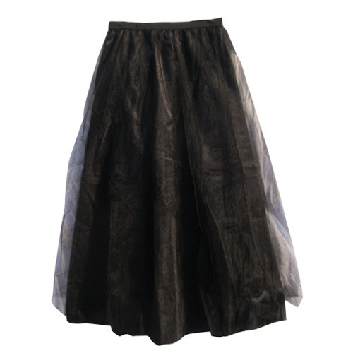 Net Yarn Ball Gown European Style Organza Summer Skirt Black