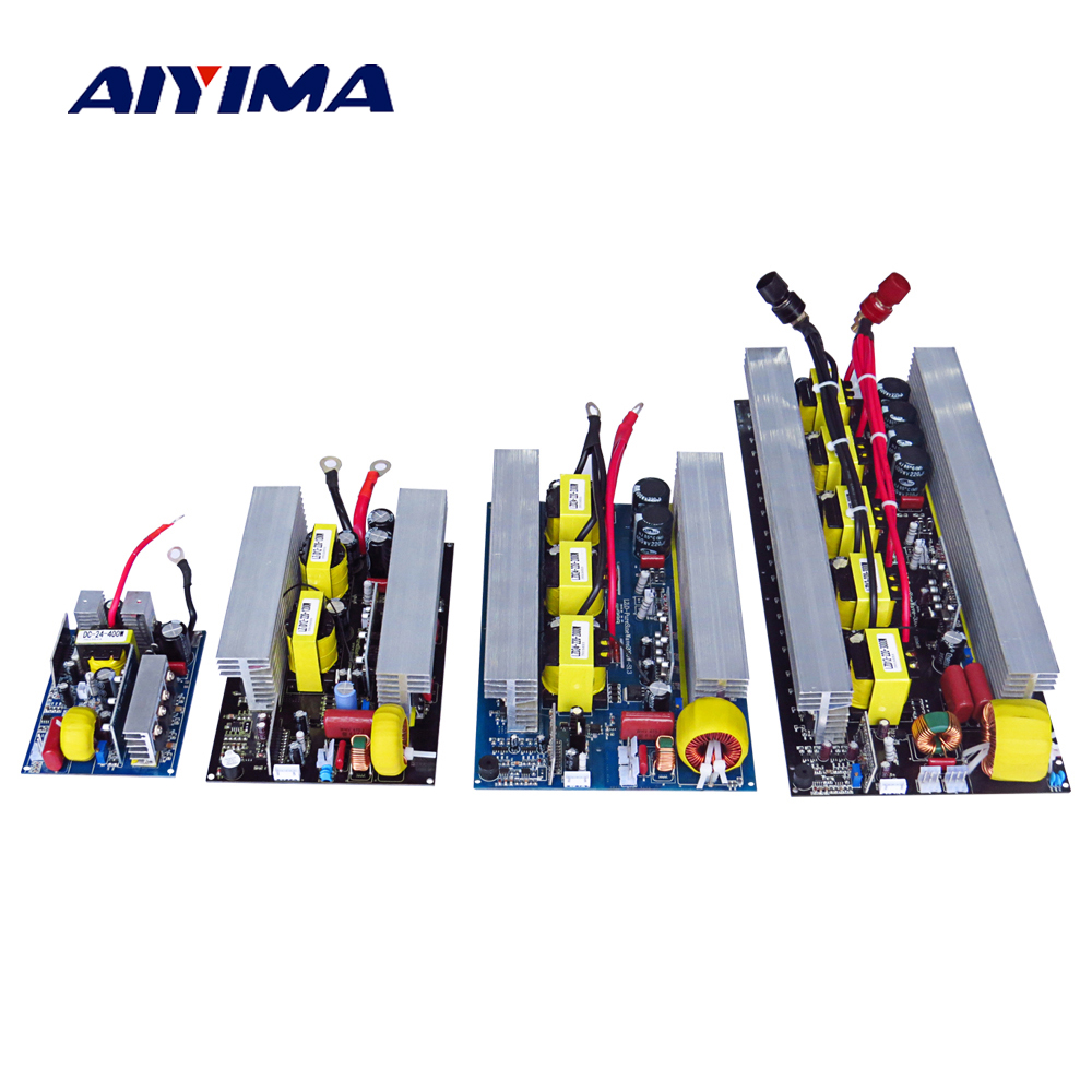 цена на Aiyima Pure Sine Wave Inverter Board DC 24V to AC 220V 300/500/600 Pass Technical Tested High Quality