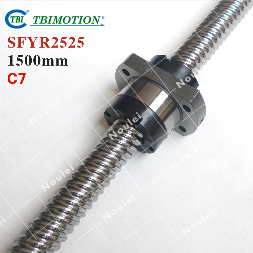 TBI 2525 miniature ball screw 25mm dia 25mm lead 1500mm with ballnut SFY2525 for DIY CNC parts горелка tbi sb 360 blackesg 3 м