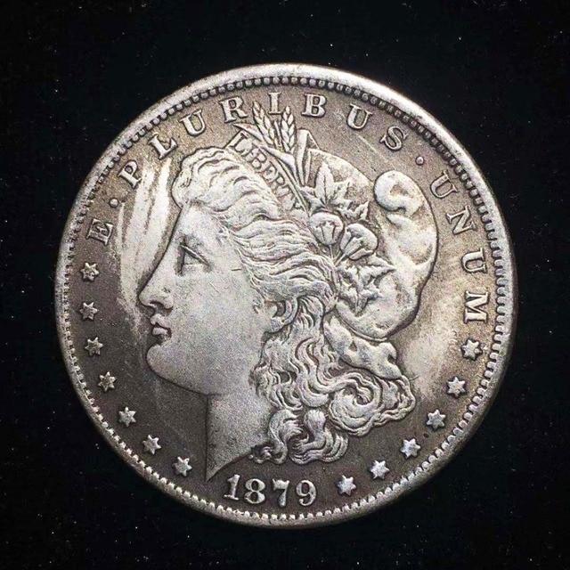 1879 EE. UU. Reina Morgan moneda de plata decoración del hogar accesorios de la colección de monedas de China de regalo de Feliz Navidad