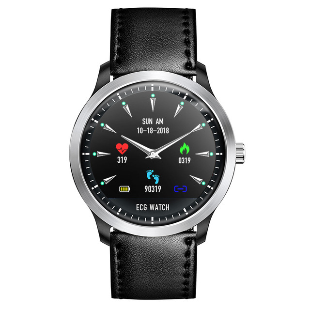 ECG PPG Smart Watch with Electrocardiograph Ecg Display Holter Heart Rate Monitor Blood Pressure PK smartwatch b57 q50 dz09 q90