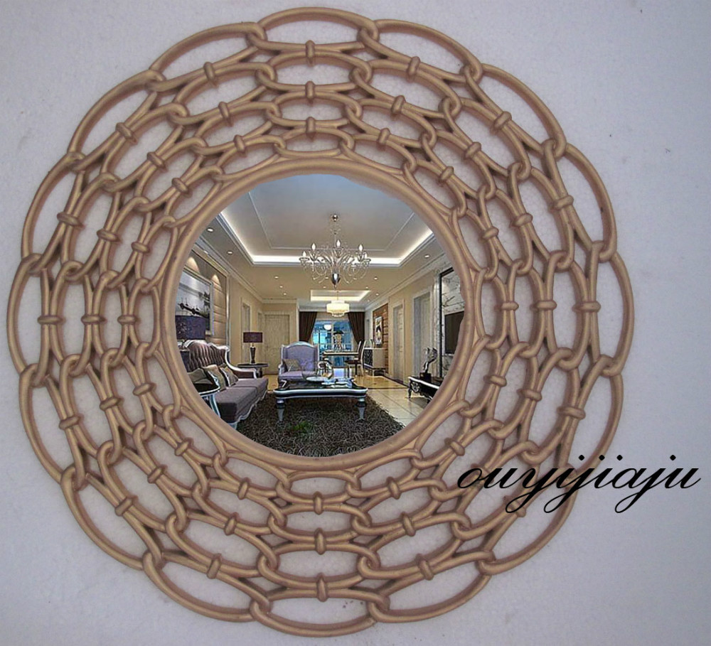 kitchen decor entwined uttermost mirror dp com gold amazon round b antique home decorative