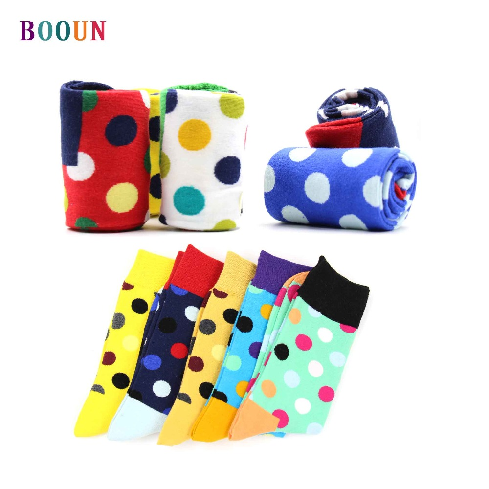 Novelty gifts for men Funny tidal current men/'s combed cotton stocks hip hop happy gifts for men style dot pattern