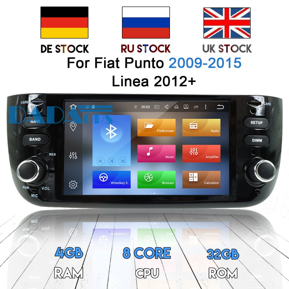 <font><b>2din</b></font> Android 8.0 7.1 Car DVD player <font><b>GPS</b></font> Navigation Car Radio Stereo Headunit For Fiat Punto 2009-2015 Linea 2012-2018 Multimedia image
