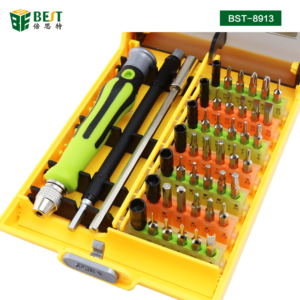 BST-8913 45 in 1 Professional Electronic Precision Screwdriver Hand Tool Set Opening Tools