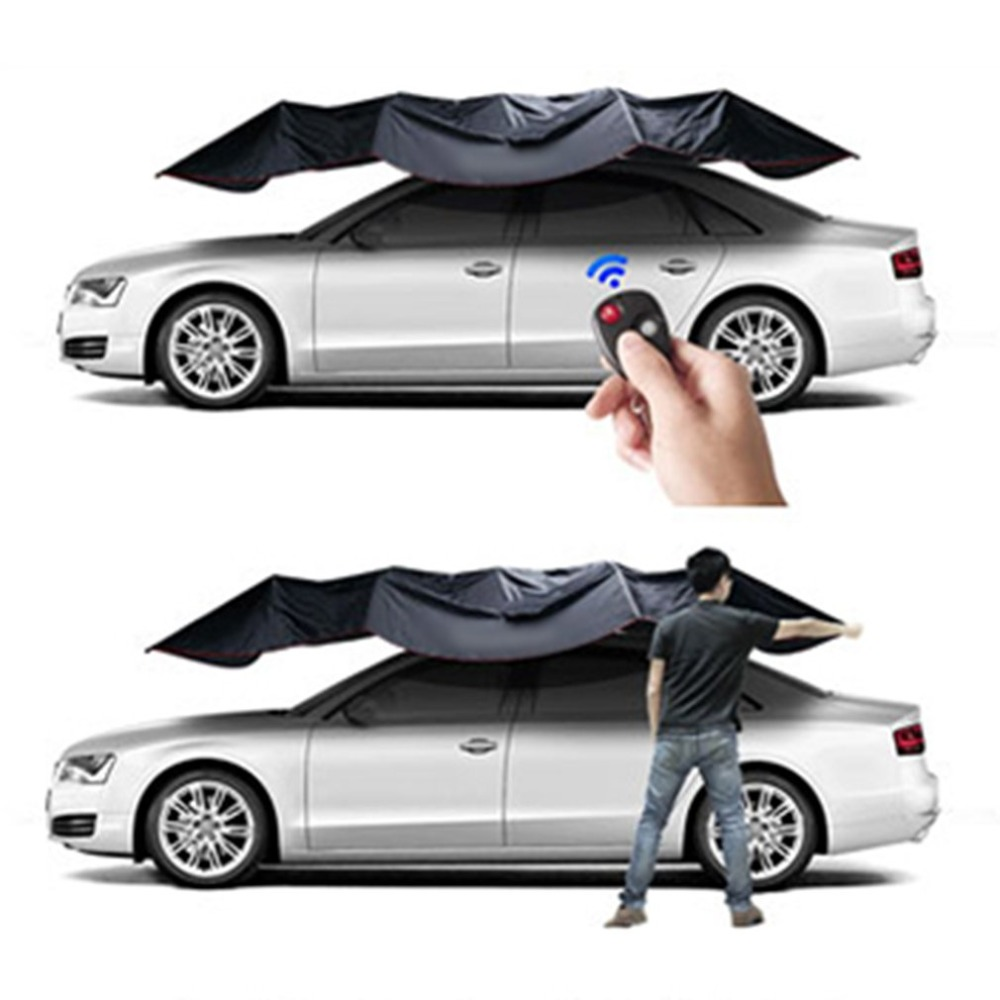 2019 New Fully Automatic Car Tent Movable Sun Shade Umbrella Dust-proof Awning Sun-proof Car Umbrella With Remote Control RU