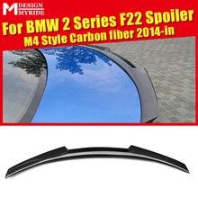 F22 Spoiler Carbon Fiber Spoiler Wing AEM4 Style Gloss Black For 2-series  220i 228i 230xd 235i Rear Trunk Spoiler Wing 2014-in
