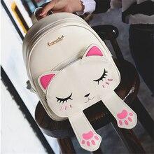 2017, Новая Мода Тренд прекрасный интерес личности высокого качества женщина рюкзак нежный котенок студентка рюкзак дорожная сумка