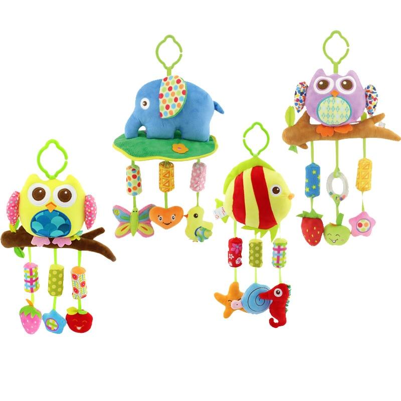гарячі продажі нові дитячі іграшки для дитячого ліжечка та коляски плюшеві іграшки автомобіля токарний верстат висячі брязкальця мобільний 0-12 місяців унісекс