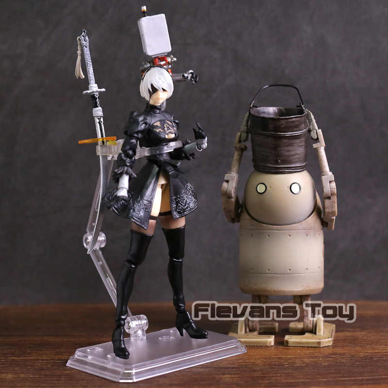 NieR Autômatos 2B & Máquina de Forma de Vida PVC Action Figure Boneca YoRHa No. 2 Tipo B Collectible Toy Modelo
