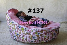 Pink birds baby bean bag chairs/insects design baby bean bag chair, kids beanbag furniture, fashion baby seat