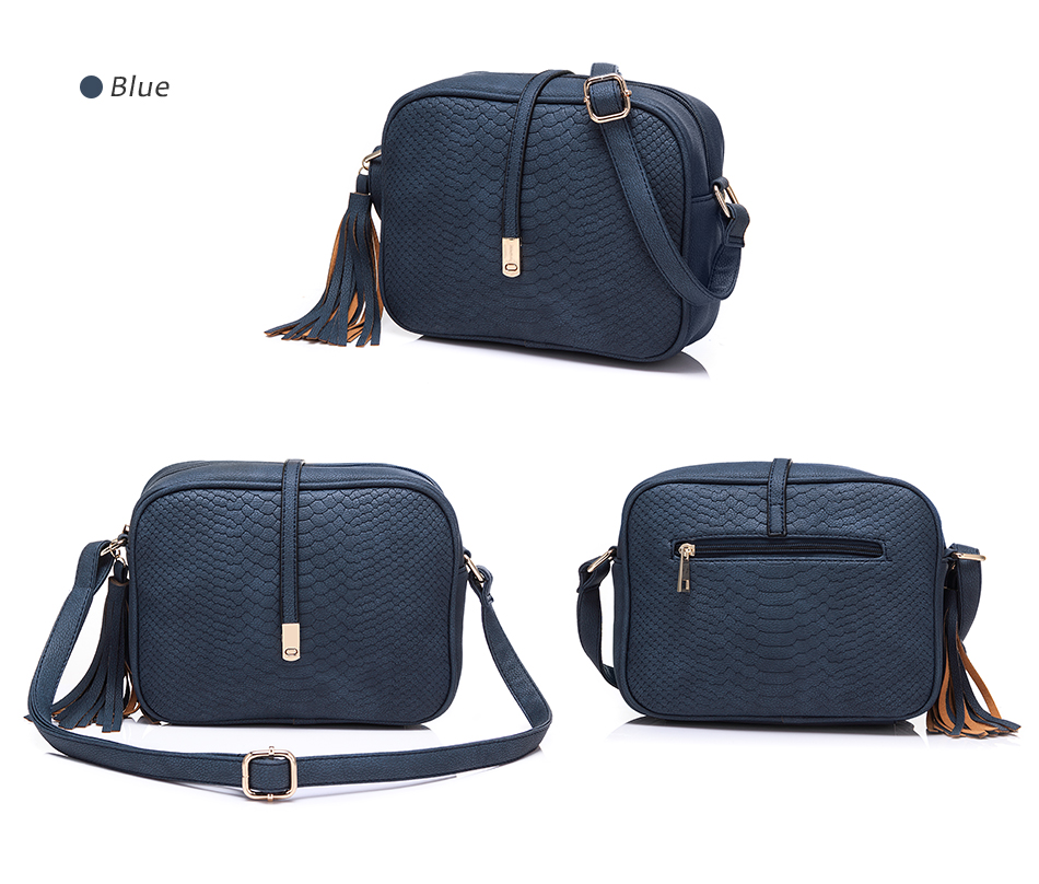 REALER brand small shoulder bag for women messenger bags ladies PU leather handbag purse tassels female crossbody bag women 2019 15