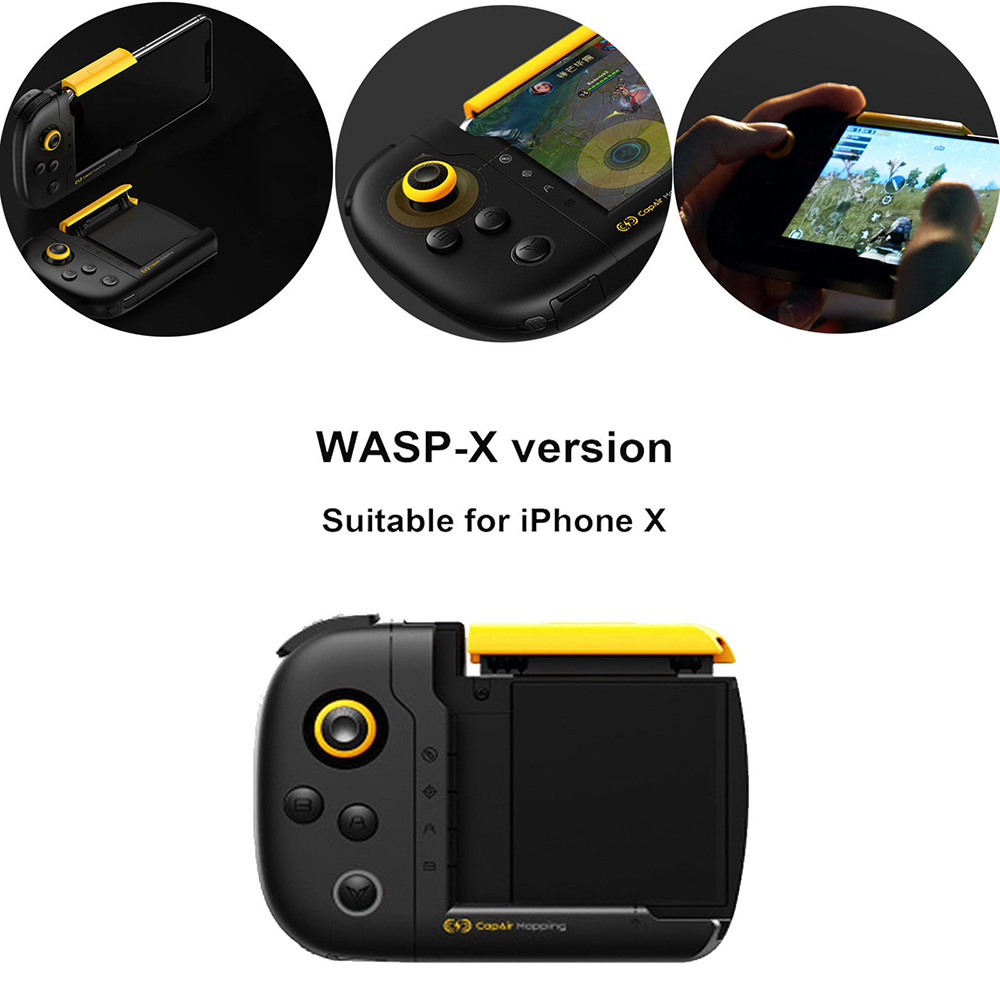 CARPRIE WASP-X version One-Handed Game Joystick for iPhone X/ Xs/ Xs Max/ R Game Pad Drop.1.22CARPRIE WASP-X version One-Handed Game Joystick for iPhone X/ Xs/ Xs Max/ R Game Pad Drop.1.22