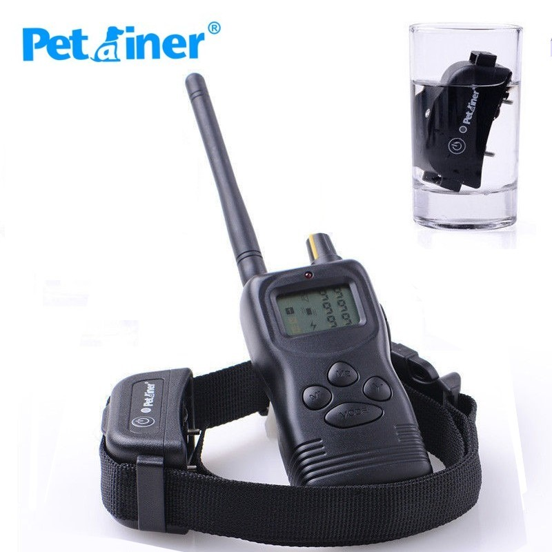 Rechargeable Waterproof Remote 1000m Dog Shock Collars Vibrate & Electric Training Collar Petrainer dogs with eyelash extensions