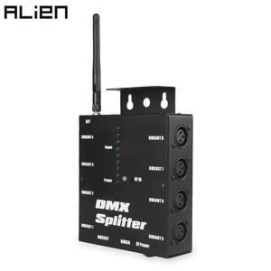 Image 1 - ALIEN 8 דרך אלחוטי DMX 512 3 פינים מבודד ספליטר מגבר עם Wireless DMX משדר מקלט עבור DJ דיסקו שלב אורות