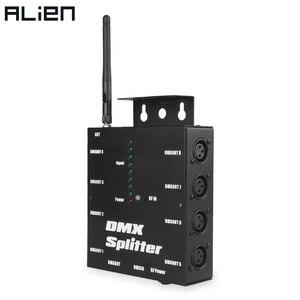 Image 1 - ALIEN 8 Way Wireless DMX 512 3 Spille Isolato Splitter Amplificatore con Wireless DMX Ricetrasmettitore Ricevitore per DJ Della Discoteca luci del palcoscenico