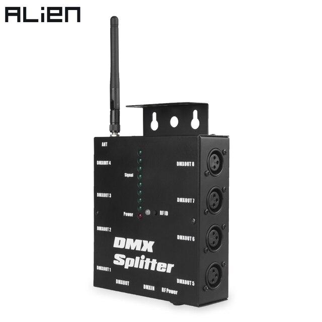ALIEN amplificateur diviseur isolé sans fil 8 voies DMX 512 à 3 broches, avec récepteur sans fil DMX pour lumières de scène Disco DJ