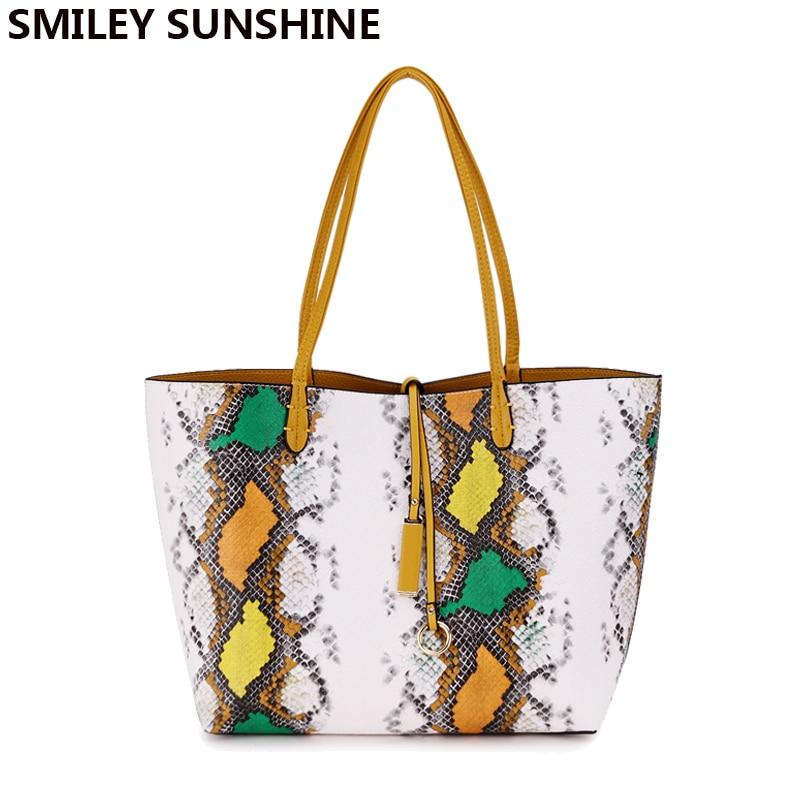 SMILEY SUNSHINE serpantin kompozit kadın çanta çanta büyük - Çanta - Fotoğraf 6