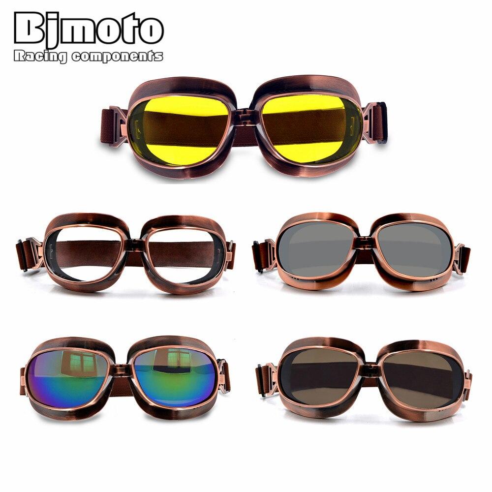 6561f8295292c BJMOTO Retro Vintage Moto Scooter Aviador Vôo Capacete Da Motocicleta Óculos  de proteção Óculos de Esportes Ao Ar Livre Óculos Frete Grátis em Óculos de  ...