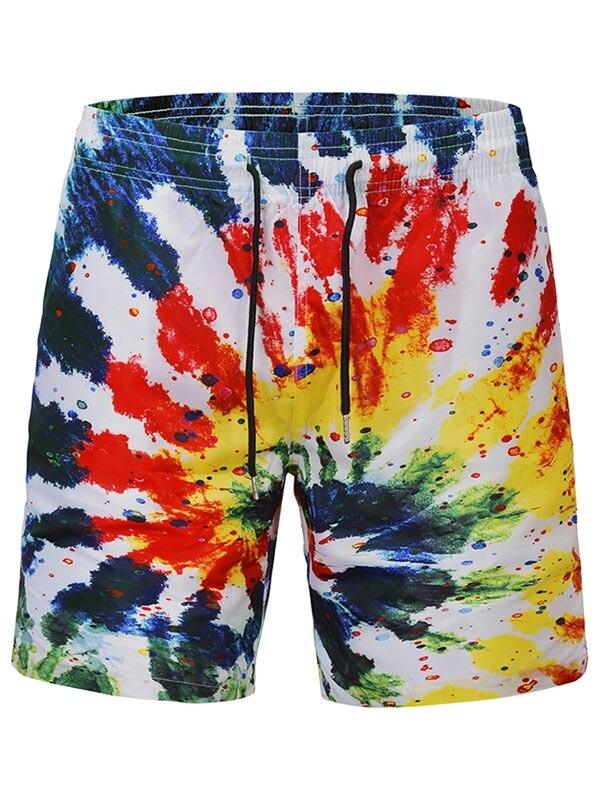 2018 Men's Quick Dry Summer Boardshorts Funny 3D Splash Ink Graffiti Print Beach   Board     Shorts   Hip Hop Summer   Shorts   Men