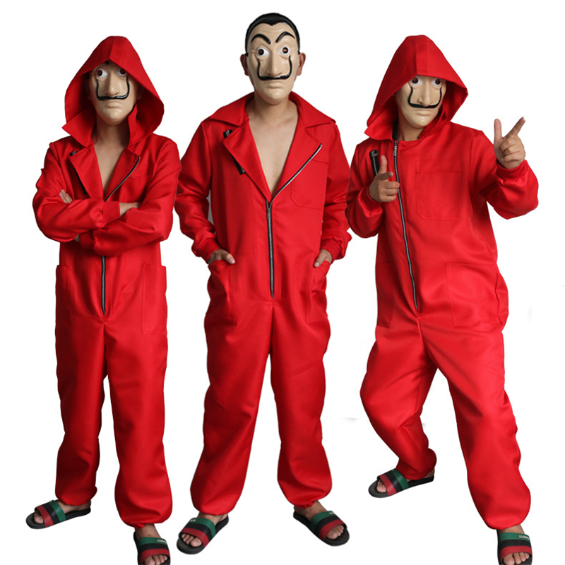 Movie La Casa De Papel Salvador Dali Costume The House of Paper Cosplay Playing Party Halloween Costume + Mask