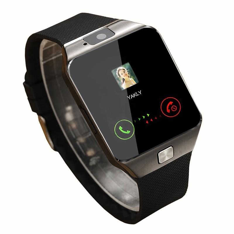 imágenes para Reloj inteligente Smartwatch DZ09 2016 Oro Blanco Naranja Negro Relojes Bluetooth Para IOS Iphone Android Tarjeta SIM de La Cámara de 1.56 Pulgadas