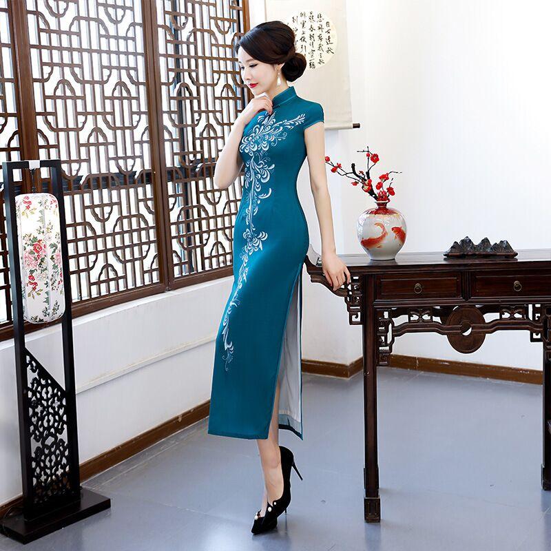 Femmes 304 Mode Xxl Arrivée Taille Nouvelle Élégante Qipao Mince M Xl De Style Cheongsam L Robes Xxxl Chinois 189677 Robe Long 303 À Rayonne 8q8HBAr