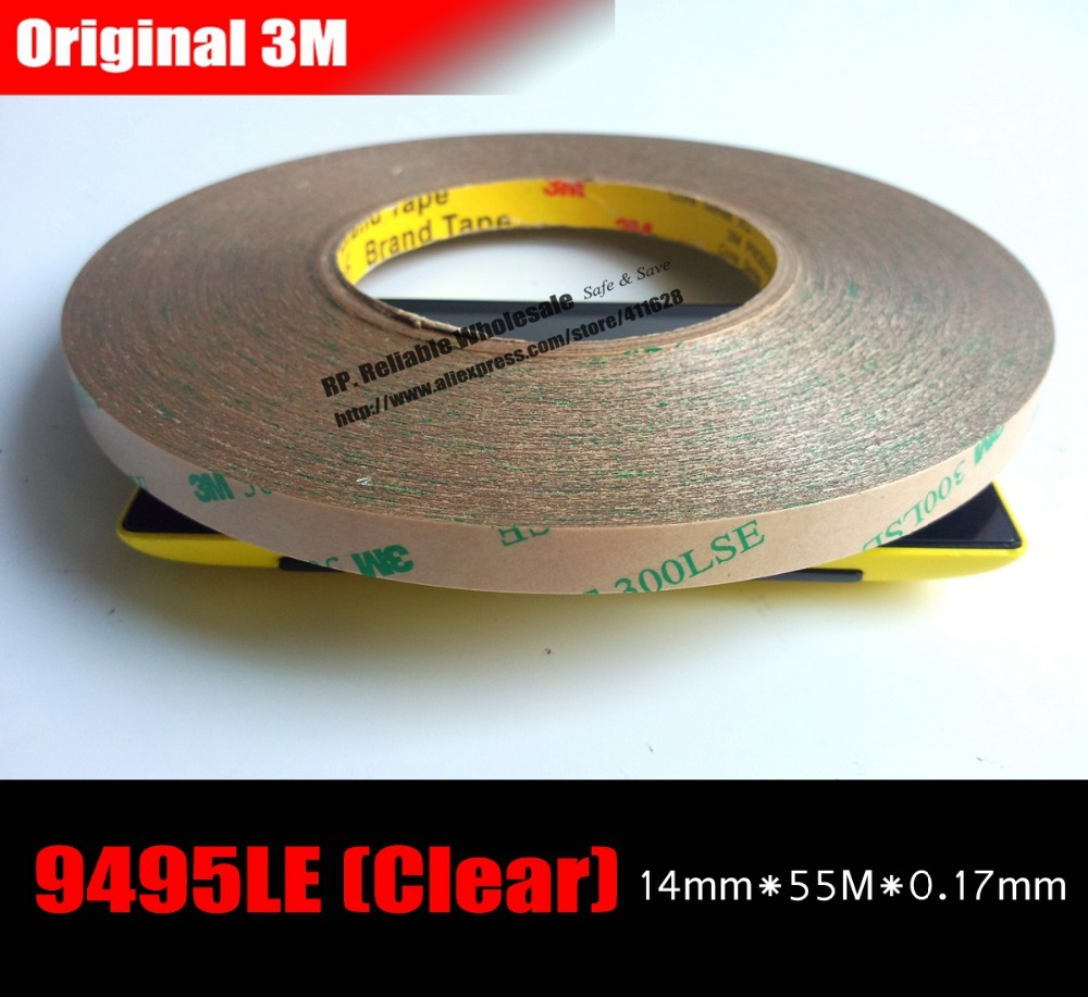 (14mm*55M*0.17mm) 3M 9495LE 300LSE Double Coated Adhesive Duct Tape for Foam Metal Screen Bezel, Electrical Assemble, Strong pannovo g 215 waterproof foam floaty backdoor w 3m adhesive tape for gopro hero 4 3 sj4000