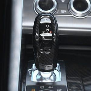 Image 1 - Car Gear Shift Knob Cover Trim Carbon Fiber Style for Land Rover Range Rover Sport 2014 2015 2016 2017 Interior Mouldings