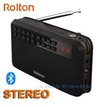 Rolton E500 Di Động Stereo Bluetooth Loa Phát Thanh FM Bass Kép Theo Dõi Loa Thẻ TF USB Nghe Nhạc Cột Hỗ Trợ Recor