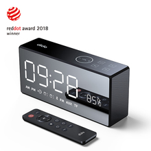 Portable Bluetooth Speakers LED Screen Wireless Speakers with Radio Call Control Alarm Clock Remote Control Smart Speaker цена и фото