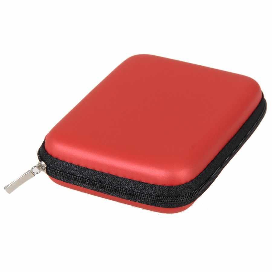 """Almacenamiento externo USB Unidad de disco duro HDD funda de transporte Cable multifunción auricular bolsa para PC portátil 2,5"""""""