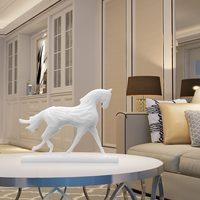 Фантастические 3D печатных Скульптура работает лошадь оптимизировать Форма первоначально разработанный дома номер украшения интерьера ор