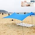 Sombrilla de playa de la familia tienda ligera de sombra del sol con anclas de la bolsa de arena 4 clavijas gratis UPF50 + UV gran toldo portátil