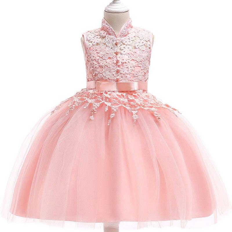 Summer children clothing   Flower     Girl     Dress   Sleeveless Lace Christmas   Dress   Wedding Evening   Dress     Girl   baby Princess party   Dress