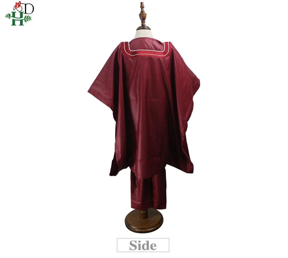 H&D no cap african children clothes dashiki shirt pant 3 pieces set son boy suits 2019 south africa kids red clothing TZ3062