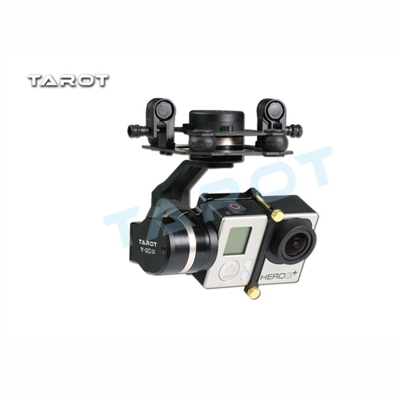 Tarot-RC TL3T01 Update from T4-3D 3D Metal 3-axis Brushless Gimbal for GOPRO GOPRO4/GOpro3+/Gopro3 FPV Photography tarot gopro 3dⅢ metal cnc 3 axis brushless gimbal ptz for gopro 4 3 3 fpv quadcopter tl3t01