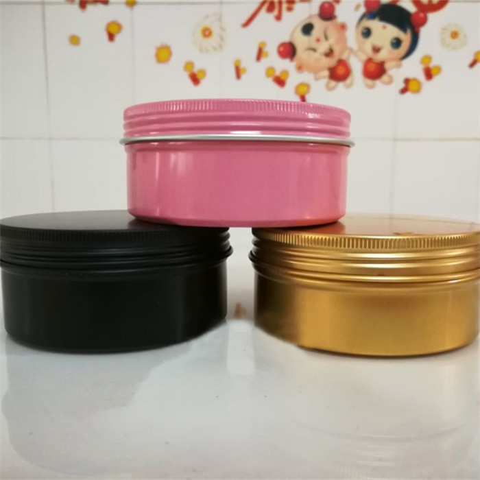 10/30pcs 30/50/60/80/100/150g Empty Black/Gold/Pink Cream Aluminum Tin Jar Makeup Refillable Lip Balm/Nail Case Container Cans 150g aluminum jar refillable cosmetic cream bottle empty screw cap containers black pink gold white silver lotion tins