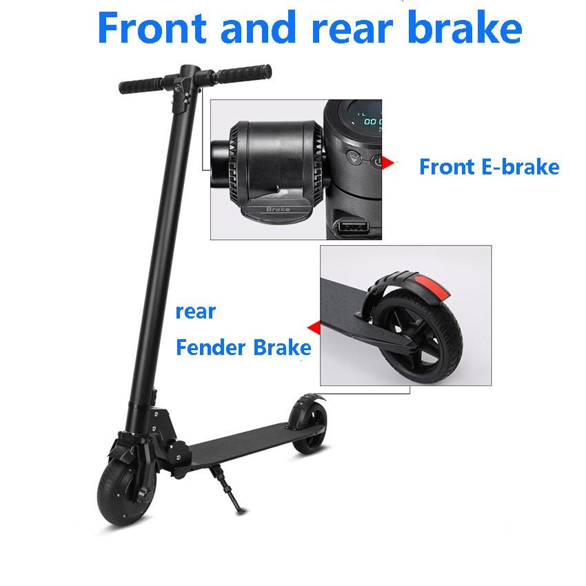 300 W 36 V hoverboard moteur sans balais pliable skateboard électrique avec e-CROISIÈRE de frein système de contrôle
