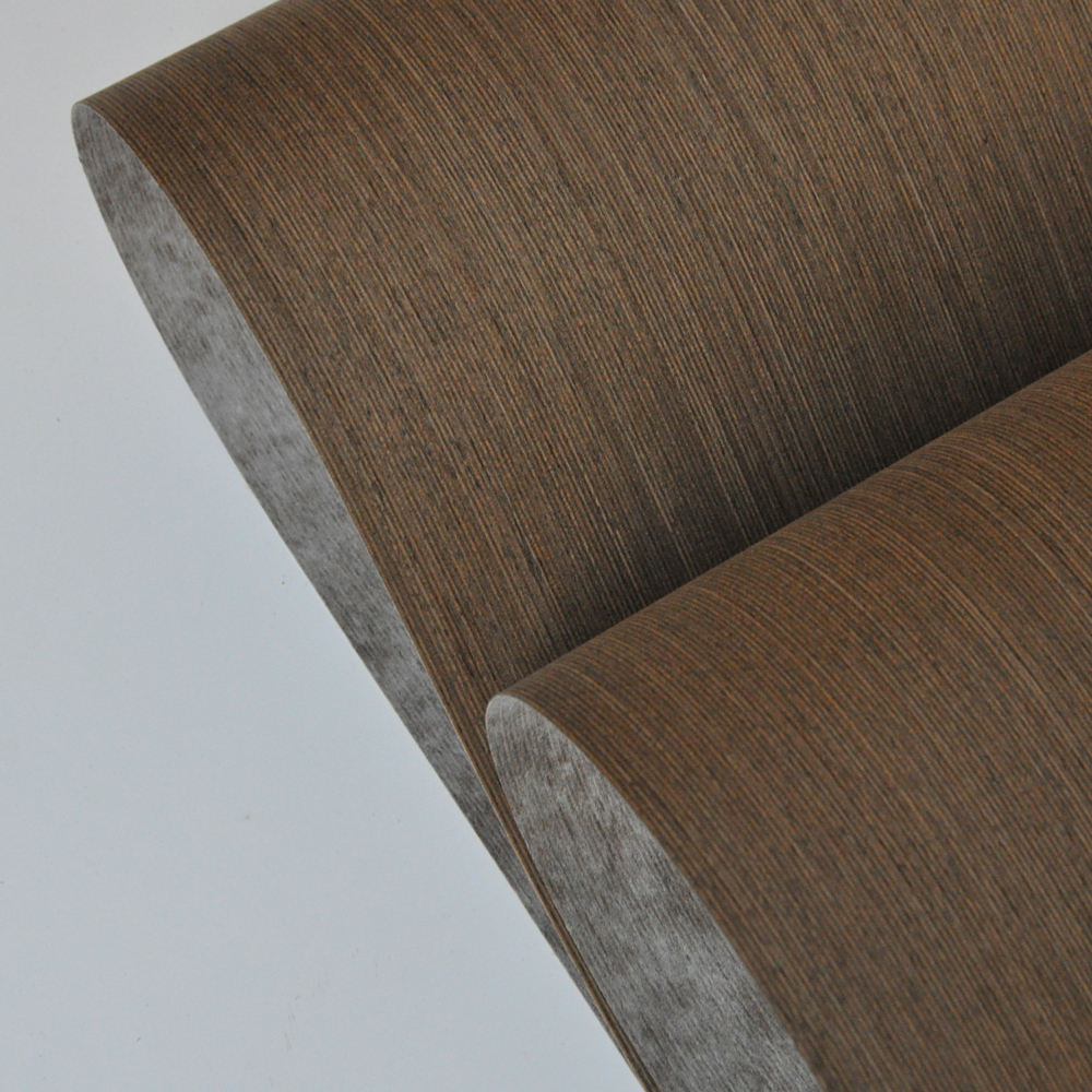 Dark Brown Wenge Engineered Wood Veneer With Fleece Backer