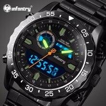 Мужские часы для мотоциклистов от ведущего бренда, Роскошные военные часы с хронографом, мужские светящиеся аналоговые цифровые часы для мужчин, мужские часы