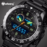 INFANTRY Mens Watches Top Brand Luxury Chronograph Military Watch Men Luminous Analog Digital Watches for Men Relogio Masculino