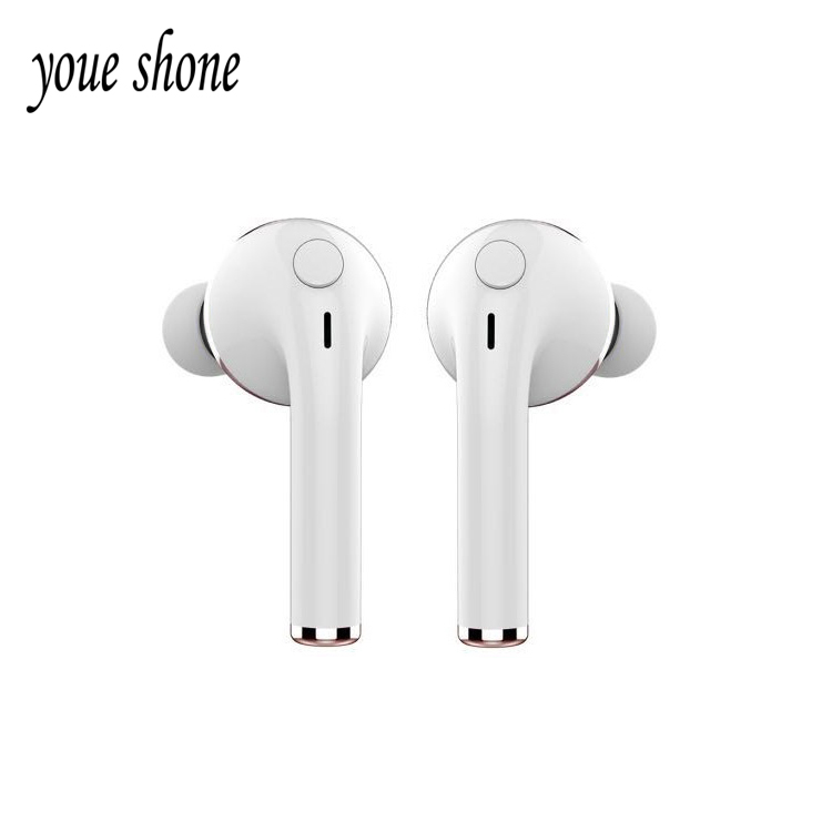 Youe Shone Mini Bluetooth Headset Wireless Earphone Portable Fone de ouvido For Apple iPhone 6 7 Airpods Airpod Earpiece Cuffie 2017 new 2 in 1 mini bluetooth headset phone usb car charger fone de ouvido micro earpiece wireless earphone for xiaomi mi6 mi 6