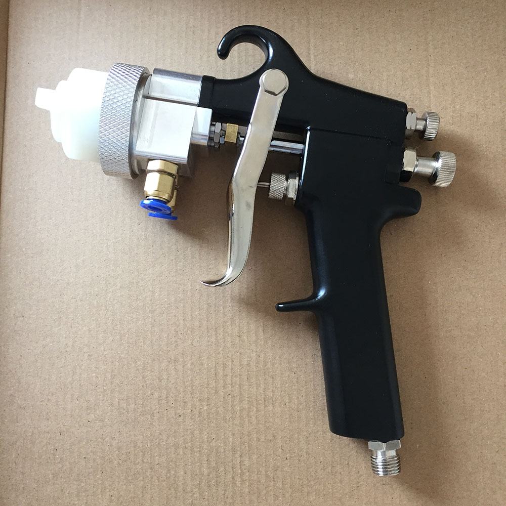 цена на SAT1182 automatic pressure feed paint spray gun professional spray gun golden paint gun automotive guns car painting tool pistol