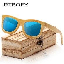 RTBOFY Wood Sunglasses Women Bamboo Frame Eyeglasses Polarized Lenses Glasses with Box UV400 Protection Shades Eyewear