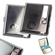 ใบแบบW/B Uilt-In USB Flamelessอิเล็กทรอนิกส์แบบชาร์จลมไฟแช็กบุหรี่ที่ใส่กล่อง