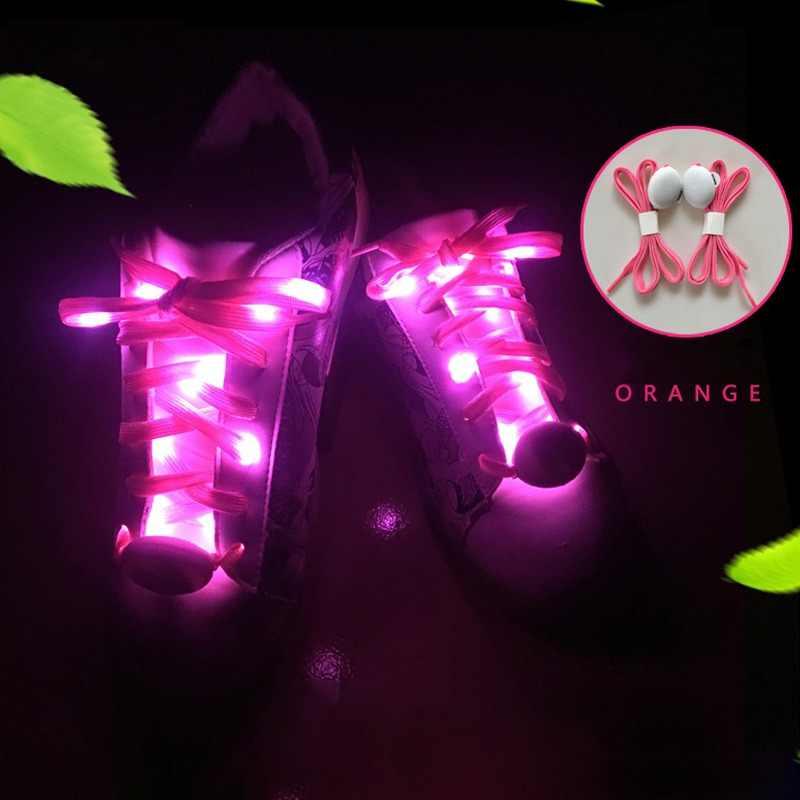 Вечерние, для катания на коньках, очаровательный светодиодный светильник, светящиеся шнурки, светящиеся в темноте, спортивные ботинки, обувь на шнурках