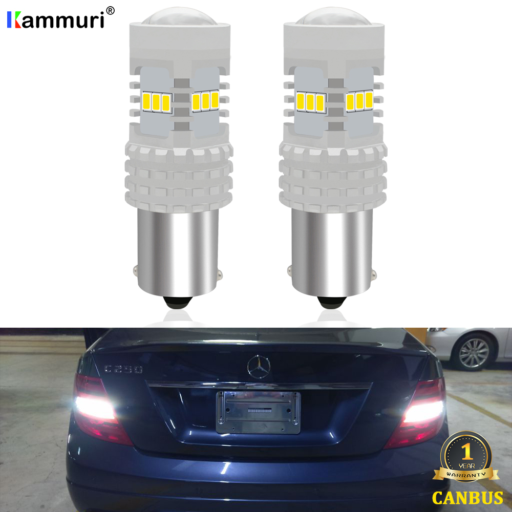 CANbus White P21W LED Car Reverse Backup Light For <font><b>Mercedes</b></font> C Class W204 C180 C200 C220 <font><b>C230</b></font> C250 C280 C300 C320 C350 C63 07-14 image