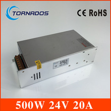 LED switching power supply 24V 500W switching power supply transformer 110VAC-220VAC 24VDC display power CE and ROHS approved